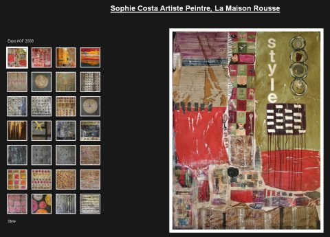 Galerie virtuelle de tableaux contemporains abstraits