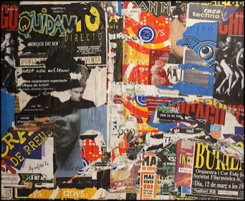 Collage affiches Jacques VILLEGLE