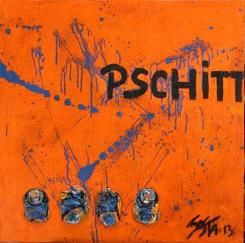 PCHITT#2 : Tableau contemporain orange