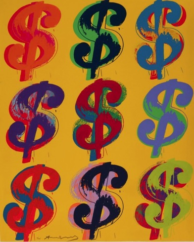 Toile Money, Andy Warhol
