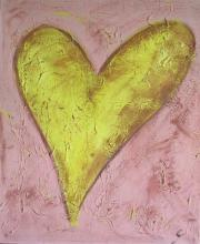 Tableau Coeur jaune : Artiste peintre Sophie Costa