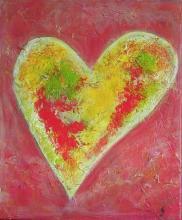 Tableau Coeur  multicolore : Artiste peintre Sophie Costa
