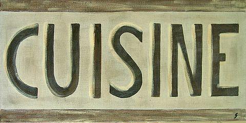 Cuisine brun tableau de sophie costa artiste peintre for Affiche pour cuisine