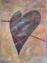 Tableau Coeur suspendu : Artiste peintre Sophie Costa
