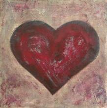 Tableau Coeur bordeau : Artiste peintre Sophie Costa