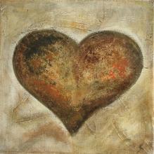 Tableau Coeur doré : Artiste peintre Sophie Costa