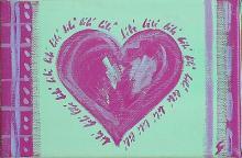 Tableau Bébé coeur : Artiste peintre Sophie Costa