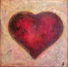 Tableau Coeur de brume : Artiste peintre Sophie Costa