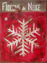 Tableau Flocons de neige blancs : Artiste peintre Sophie Costa