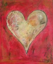 Tableau As de coeur inversé : Artiste peintre Sophie Costa