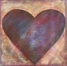 Tableau Coeur : Artiste peintre Sophie Costa