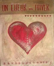 Tableau Un coeur en hiver (2) : Artiste peintre Sophie Costa