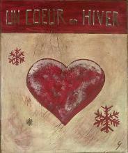 Tableau Un coeur en hiver (1) : Artiste peintre Sophie Costa