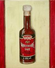 Tableau Worchestershire sauce : Artiste peintre Sophie Costa