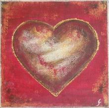 Tableau Coeur #2 : Artiste peintre Sophie Costa