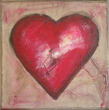 Tableau Coeur #3 : Artiste peintre Sophie Costa