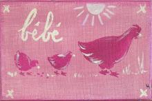 Tableau Bébé poule : Artiste peintre Sophie Costa