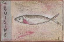 Tableau la sardine : Artiste peintre Sophie Costa