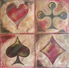 Tableau Les As : Artiste peintre Sophie Costa