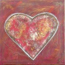 Tableau Coeur sombre : Artiste peintre Sophie Costa