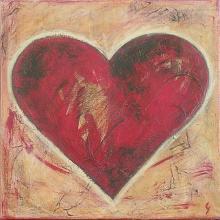 Tableau Coeur rouge : Artiste peintre Sophie Costa
