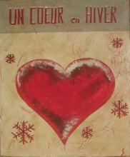 Tableau Un coeur en hiver (3) : Artiste peintre Sophie Costa