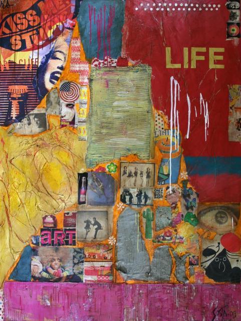 Tableau Contemporain, LIFE. Sophie Costa, artiste peintre.