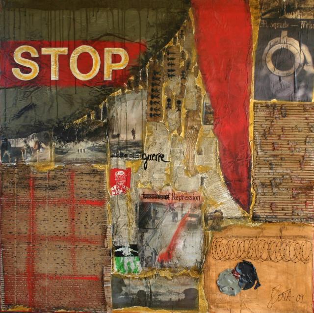 Tableau Contemporain, STOP. Sophie Costa, artiste peintre.