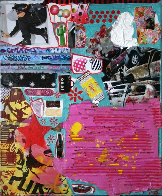 Tableau Contemporain, Street. Sophie Costa, artiste peintre.