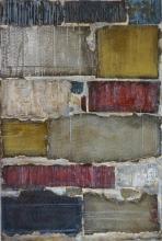 Tribute 2, tableau abstrait cartons enduits