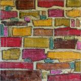 Tableau abstrait collage, Fragments