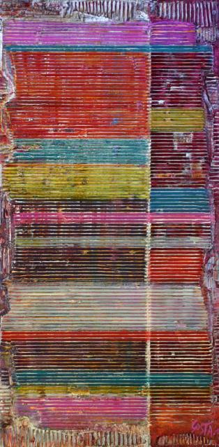 Tableau Contemporain, STRIPES. Sophie Costa, artiste peintre.