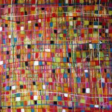 Tableau abstrait coloré, Fresh