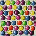 Tableau abstrait 111 des Arts 2011, pois colorés