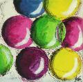 Tableau abstrait 111 des Arts 2011, bulles colorées