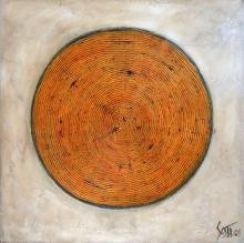 Toile contemporaine orange, Target