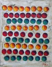 Tableau graphique coloré, Balls 4