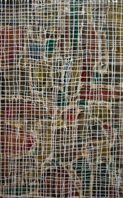 quadrillage, strates Tableau Contemporain, COMPLEXITY. Sophie Costa, artiste peintre.