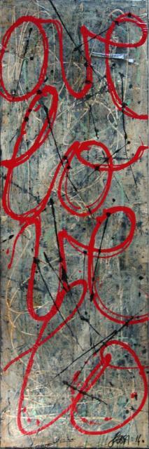 love, écriture Tableau Contemporain, L O V E. Sophie Costa, artiste peintre.