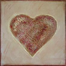 Tableau Coeur mauve : Artiste peintre Sophie Costa