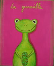 Tableau La grenouille verte : Artiste peintre Sophie Costa