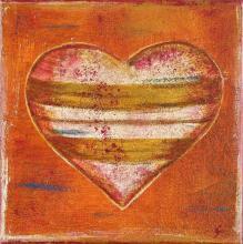 Tableau Coeur à rayures : Artiste peintre Sophie Costa