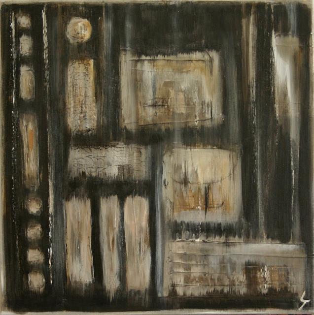 Tableau Contemporain, Série Polar (1). Sophie Costa, artiste peintre.