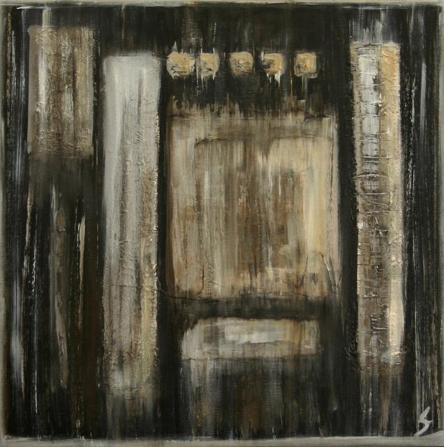 Tableau Contemporain, Série Polar (3). Sophie Costa, artiste peintre.