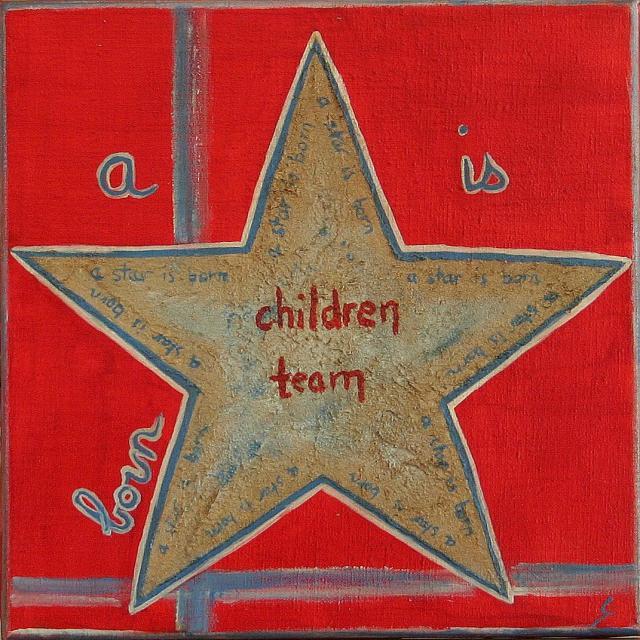 Tableau Contemporain, A star is born (2). Sophie Costa, artiste peintre.