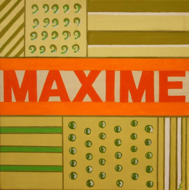 """Tableau Contemporain, """"Maxime"""". Sophie Costa, artiste peintre."""