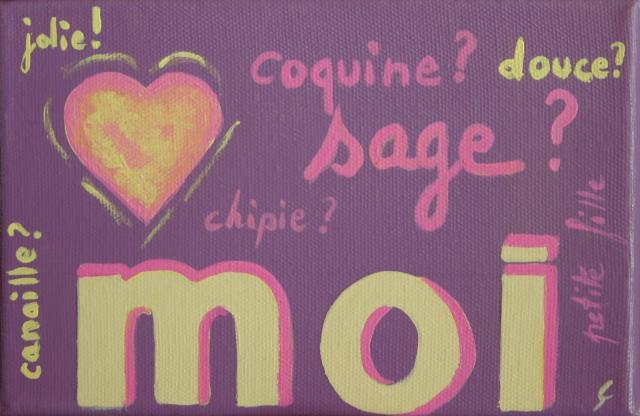 Tableau Contemporain, Moi. Sophie Costa, artiste peintre.