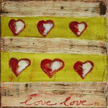 Tableau Coeurs : Artiste peintre Sophie Costa
