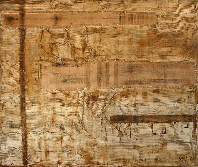 Tableau Contemporain, Trame (2). Sophie Costa, artiste peintre.