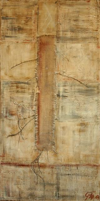 Tableau Contemporain, Trame (5). Sophie Costa, artiste peintre.